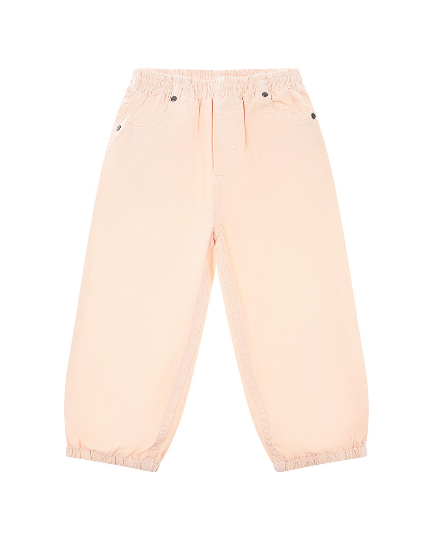 Купить Розовые брюки с вышивкой Stella McCartney детские, Розовый, 100%хлопок, 100%полиэстер