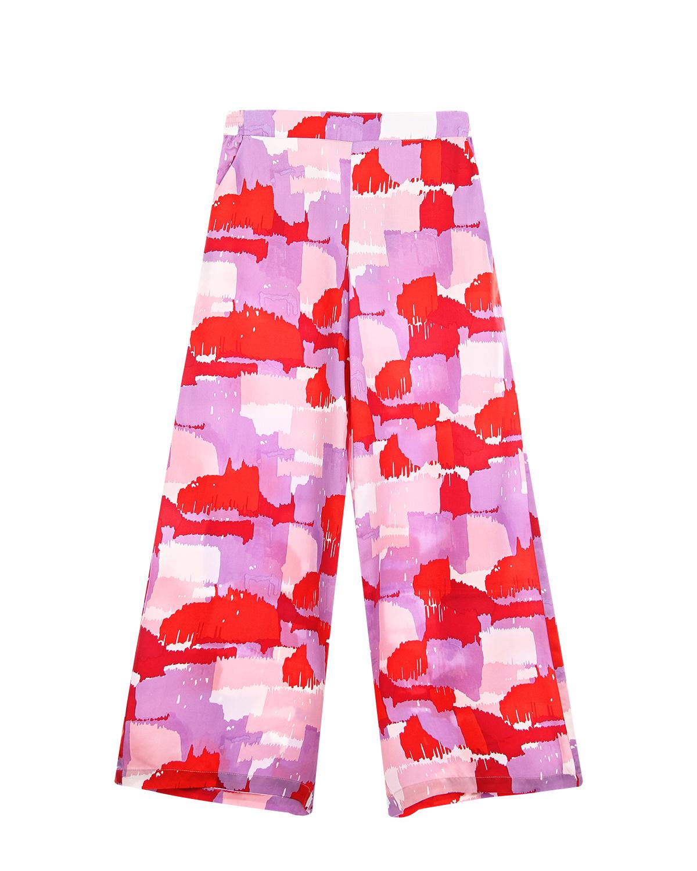 Купить Розовые брюки с абстрактным принтом Stella McCartney детские, Мультиколор, 100%хлопок, 100%лиоцелл