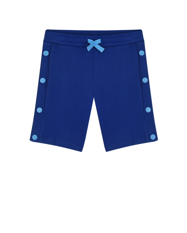 Купить Синие шорты с кнопками Stella McCartney детские, Синий, 100% хлопок, 98%хлопок+2%эластан