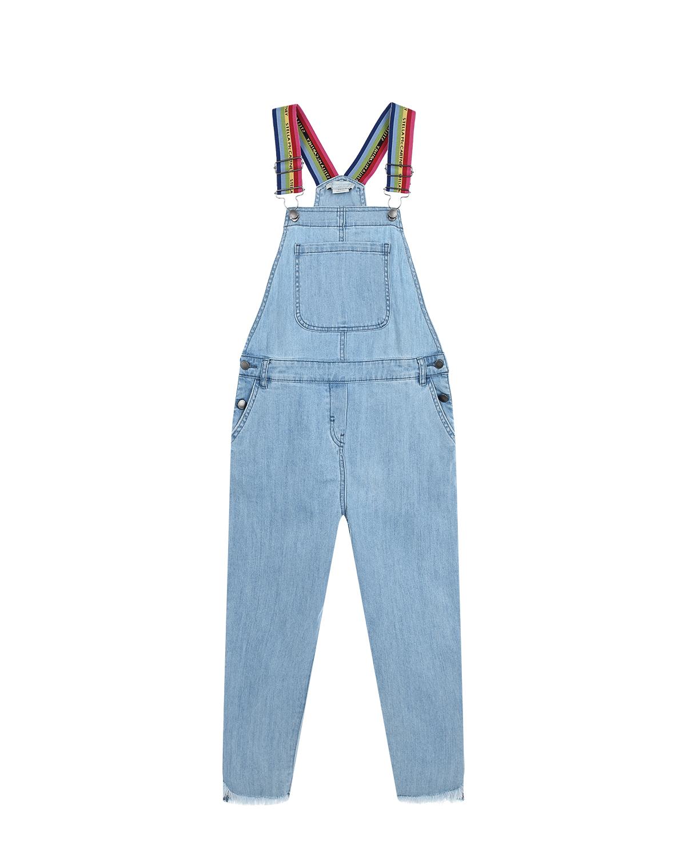 Купить Голубой джинсовый полукомбинезон Stella McCartney детский