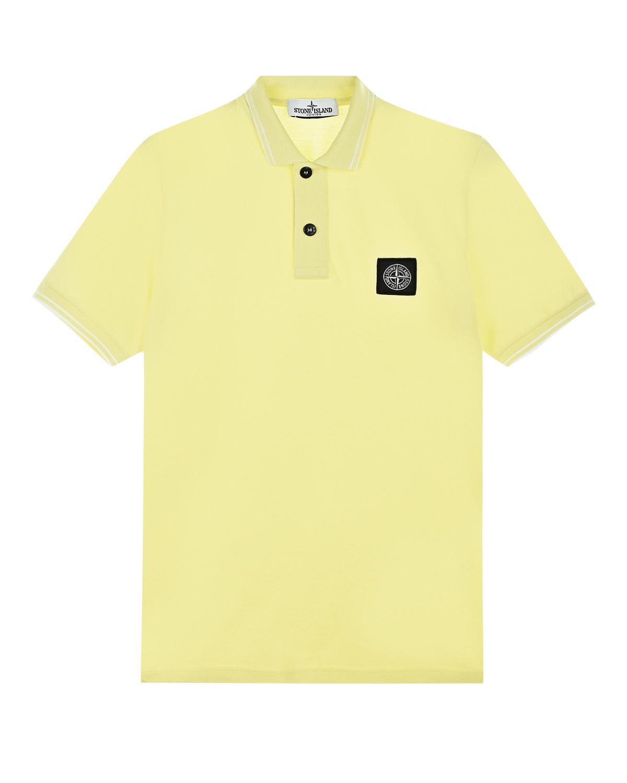 Желтая футболка-поло из хлопка-пике Stone Island.