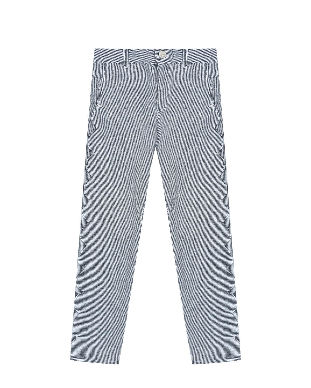 Купить Голубые джинсы с волнистой отделкой Tartine et Chocolat детские, Голубой, 98%хлопок+2%эластан, 100%хлопок