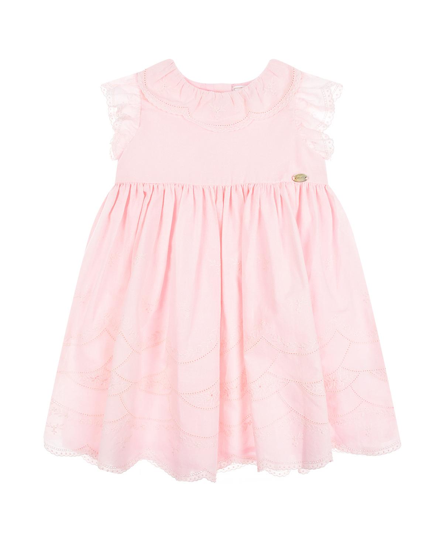 Купить Розовое платье с вышивкой Tartine et Chocolat детское, Розовый, 100%хлопок