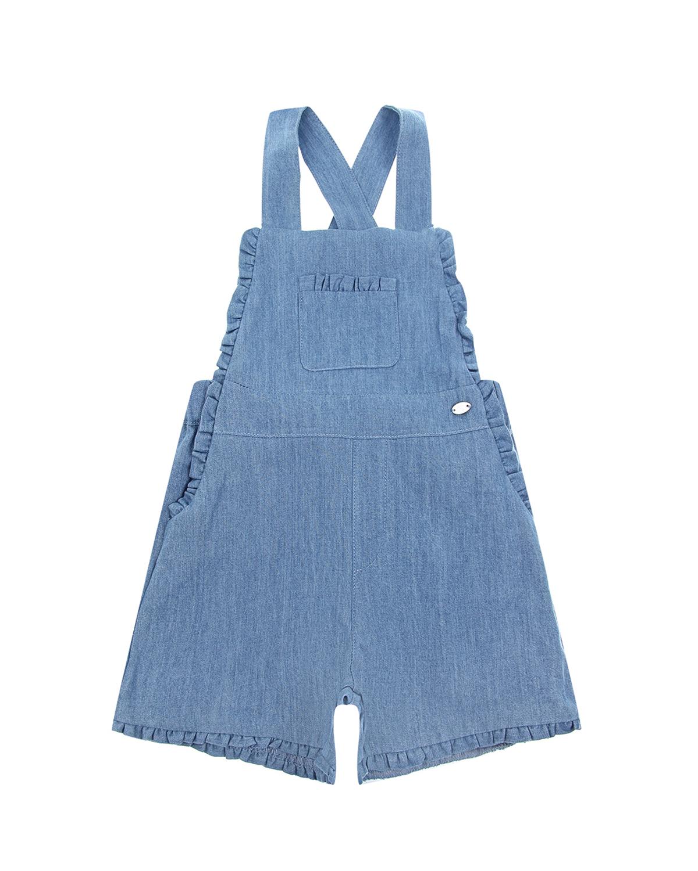 Купить Синий джинсовый полуковмбинезон с оборками Tartine et Chocolat детский, 100% хлопок