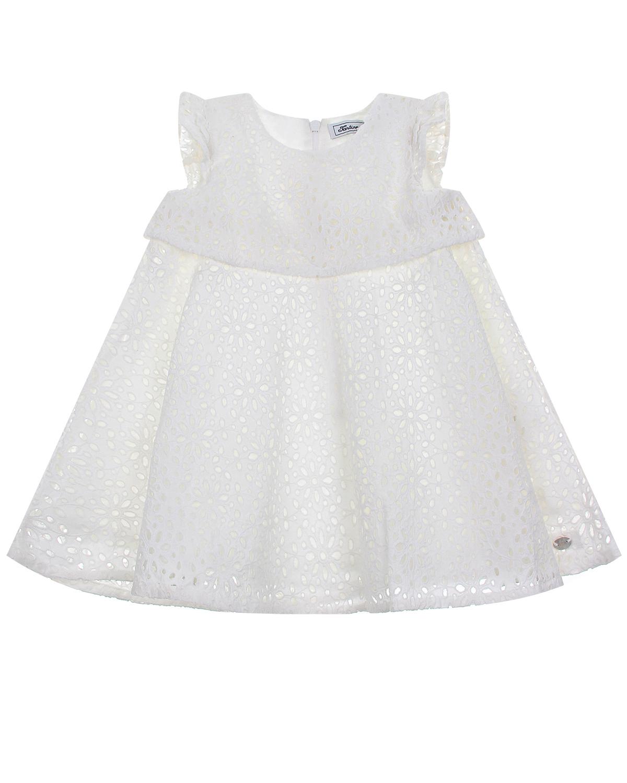 Купить Белое платье с кружевной отделкой Tartine et Chocolat детское, Белый, 100% хлопок