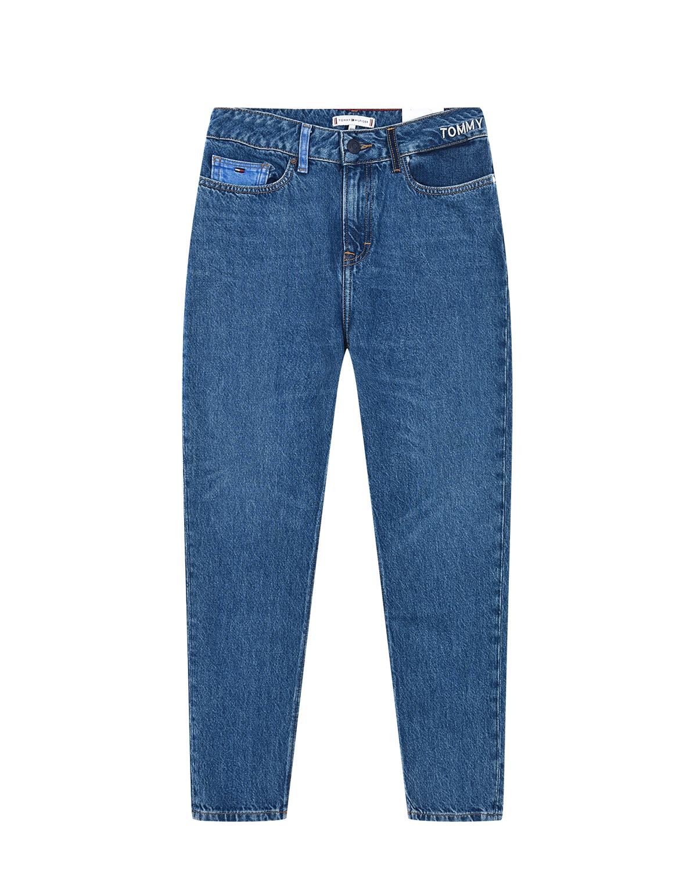 Голубые джинсы с высокой посадкой Tommy Hilfiger детские фото