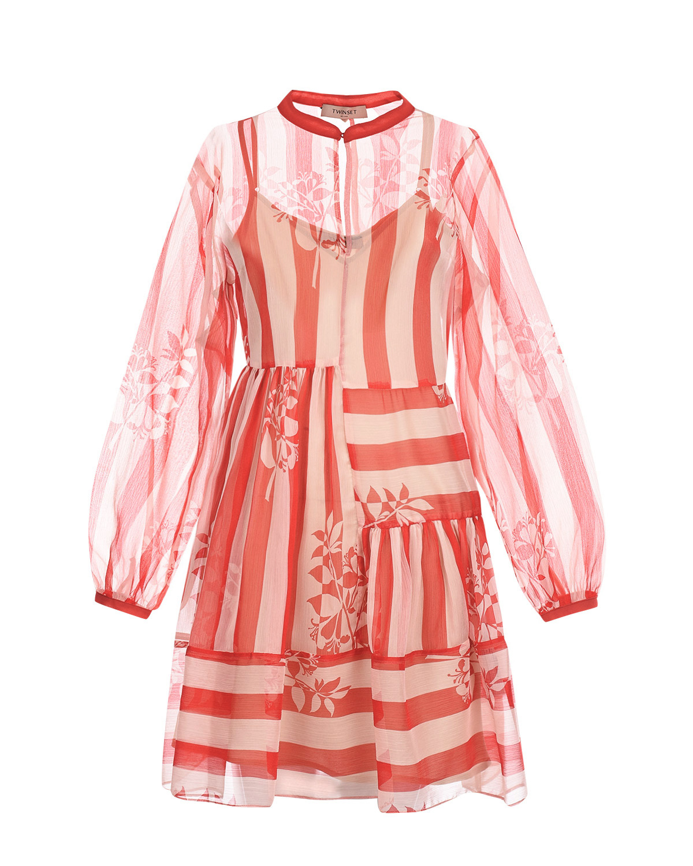 Платье с полупрозрачным рукавом реглан TWINSET фото