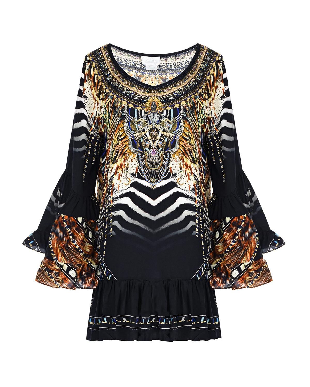 Купить Платье oversize с воланами Camilla