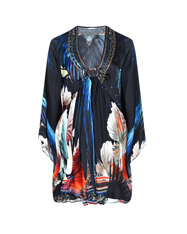 Купить Шелковое платье с V-образным вырезом Camilla