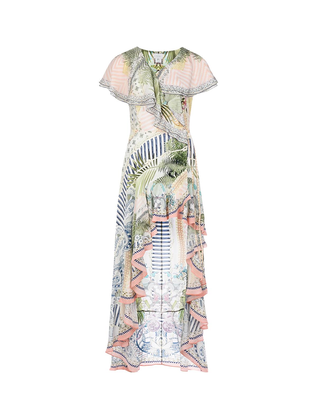 Купить Платье на запах с ассиметричным подолом Camilla
