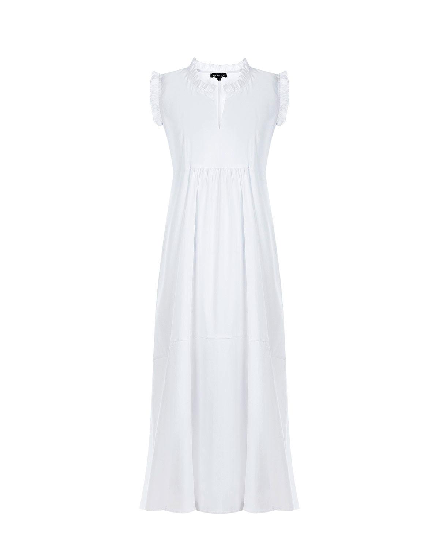 Белое платье с отделкой рюшами Attesa фото