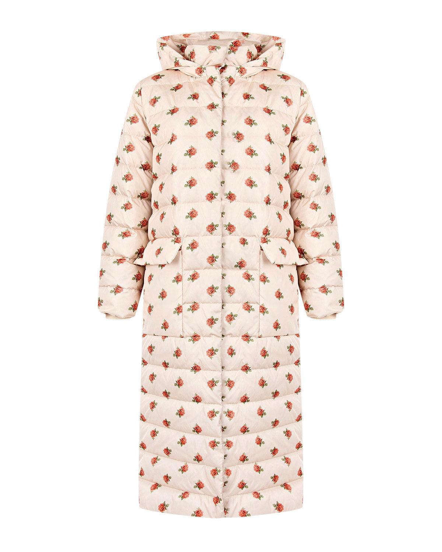 Пуховое пальто с цветочным принтом Alena Akhmadullina фото