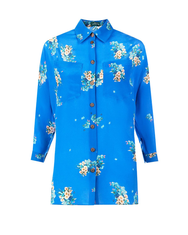 Шелковая блуза с цветочным принтом Alena Akhmadullina фото