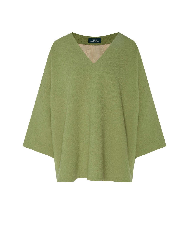 Зеленая блузка из шерстяной ткани Alena Akhmadullina фото