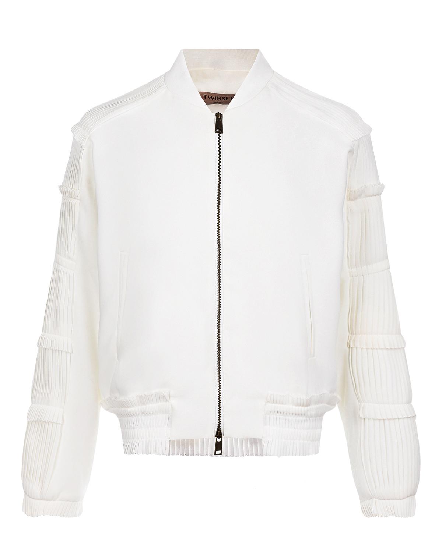 Куртка-бомбер с плиссированными рукавами TWINSET фото