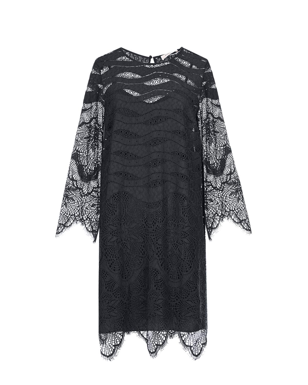 Черное кружевное платье TWINSET фото