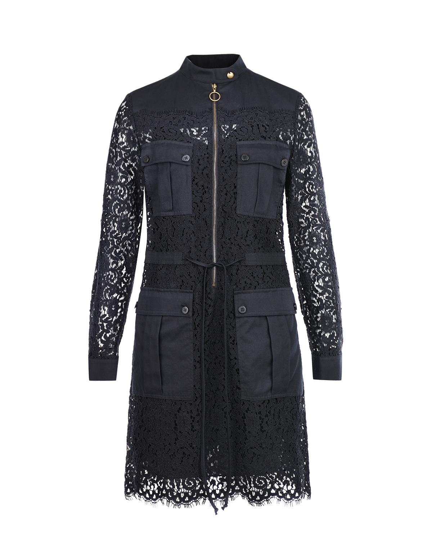 Кружевное платье с накладными карманами TWINSET фото