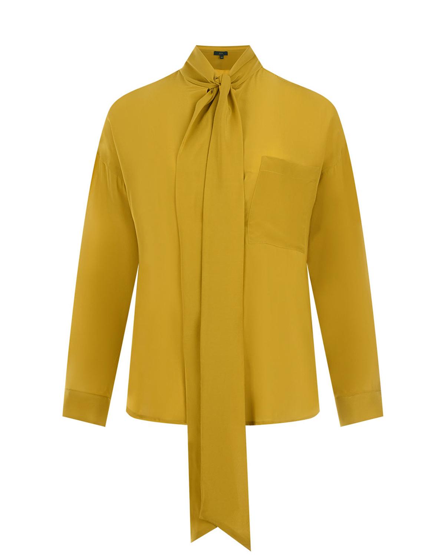 Блуза из шелка с воротом аскот Jejia