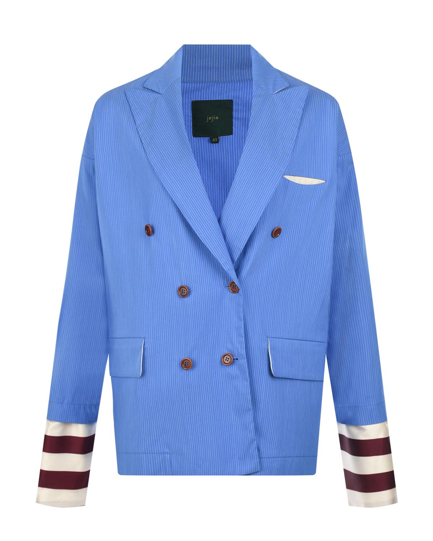 Двубортный пиджак с манжетами в полоску Jejia фото
