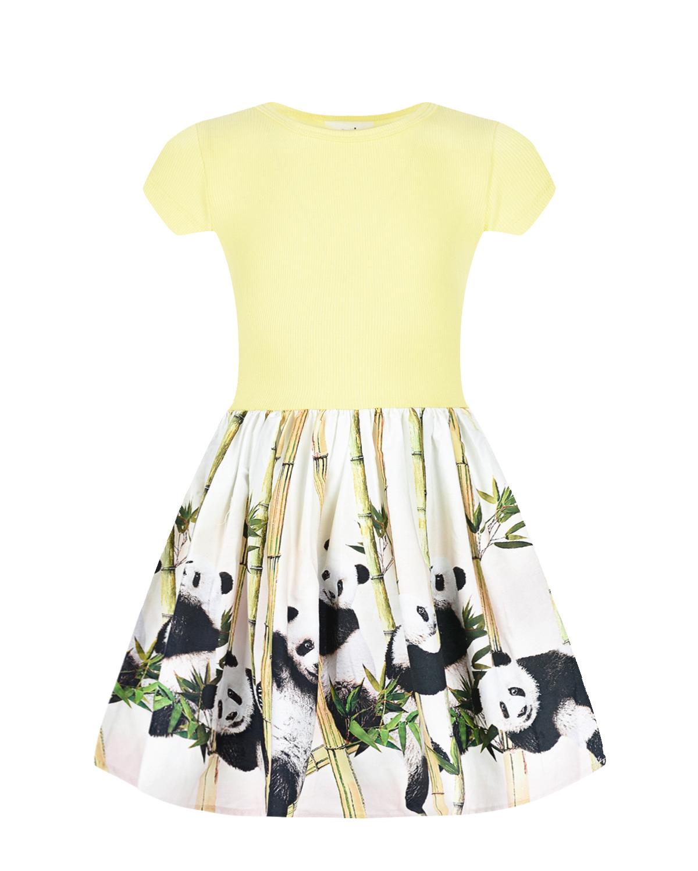 Купить Платье Cissa Panda Party Molo детское, Мультиколор, 96%хлопок+4%эластан, 100%хлопок