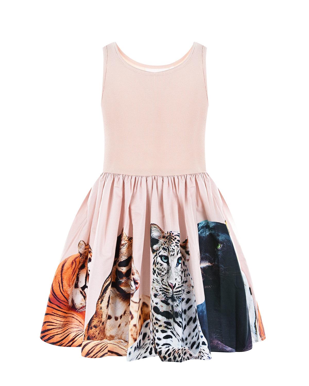 Купить Платье Cassandra Big Cats Molo детское, Нет цвета, 96%хлопок+4%эластан, 100%хлопок