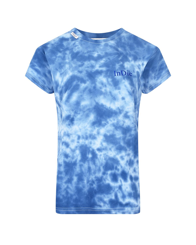 Синяя футболка с эффектом tie-dye Forte dei Marmi Couture.