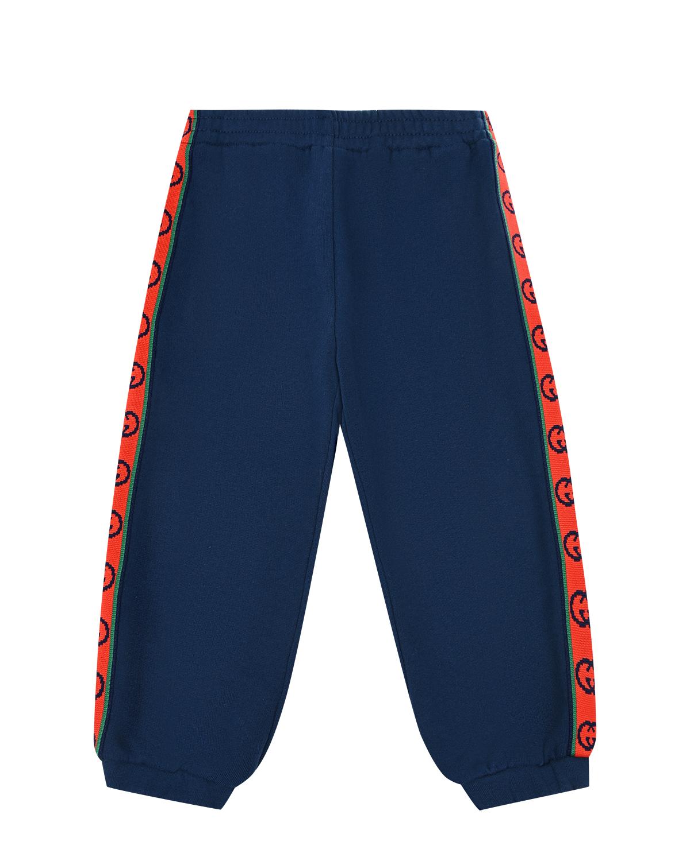 Спортивные брюки с трикотажными лампасами GUCCI детские фото