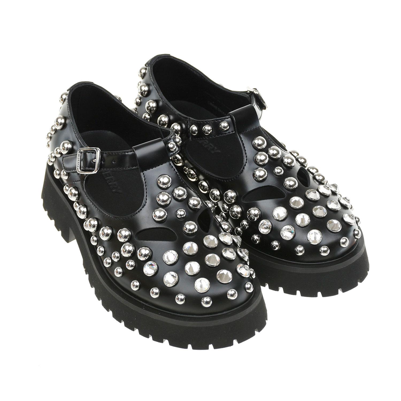 Купить со скидкой Кожаные туфли с металлическими заклепками Burberry детские