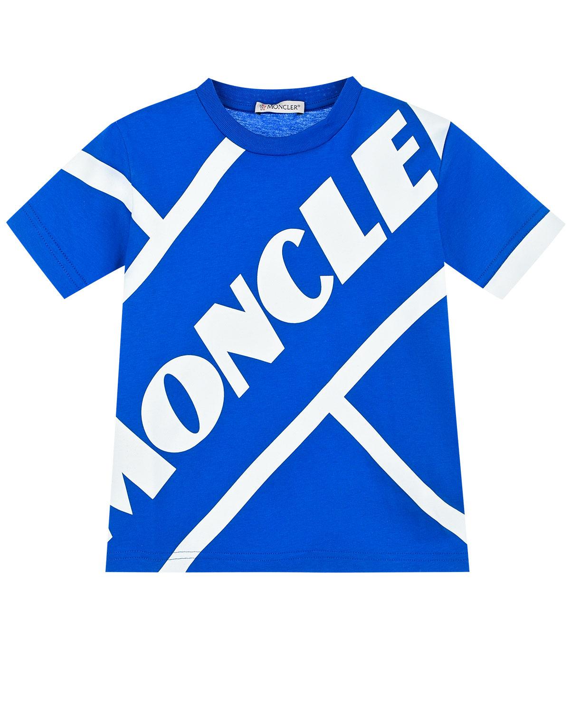 футболка в полоску moncler для мальчика