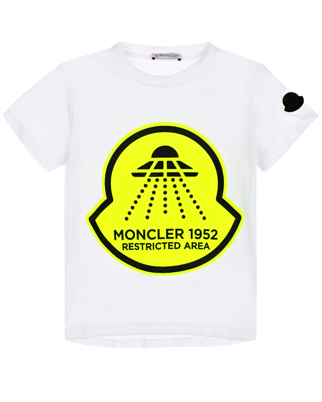 футболка с принтом moncler для мальчика