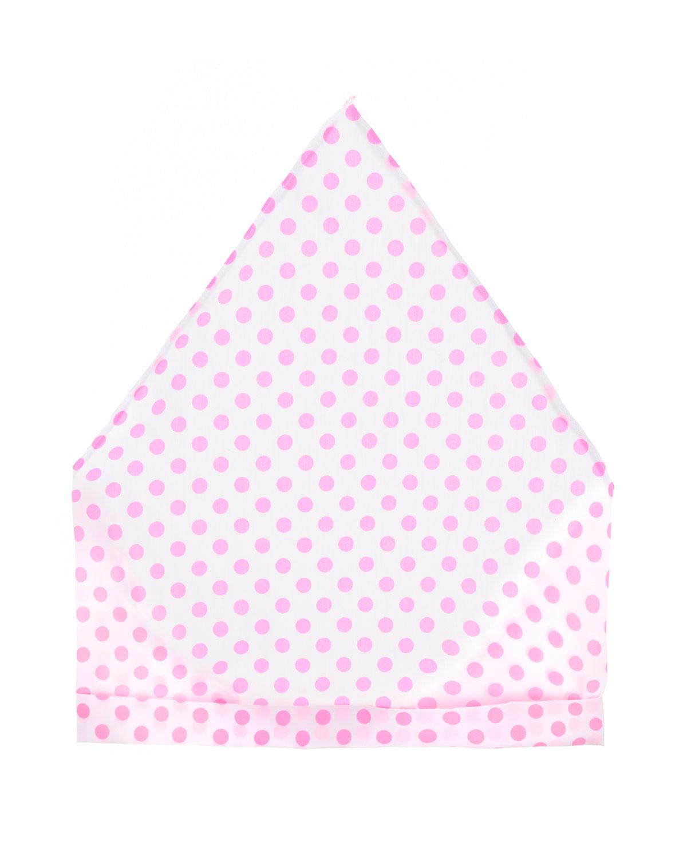 Косынка из хлопка в розовый горошек Arc-en-ciel детская