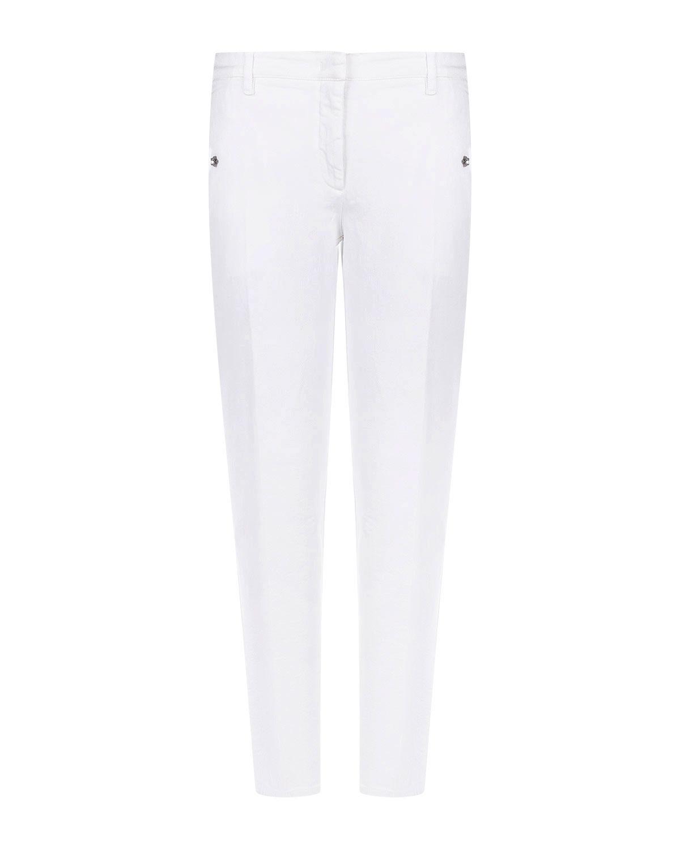 Зауженные брюки с декором из стразов No. 21 фото