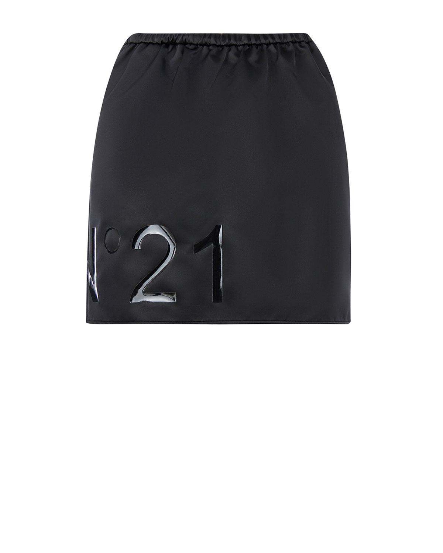 Купить Черная мини-юбка с глянцевой аппликацией No. 21