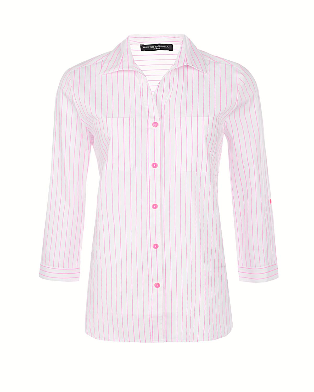 Рубашка с принтом в тонкую полоску Pietro Brunelli фото