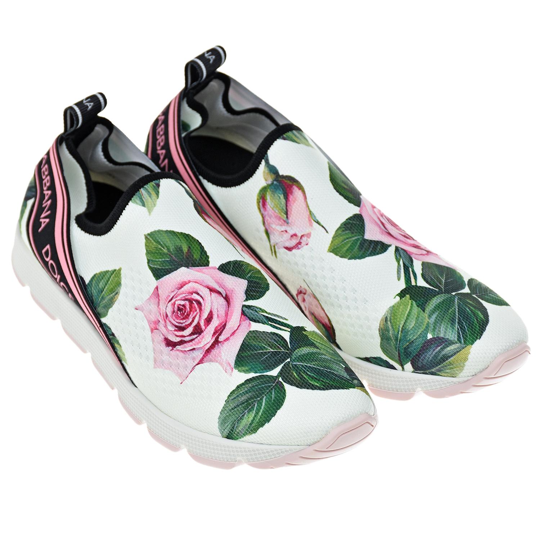"""Эластичные кроссовки с принтом """"Тропические розы"""" Dolce&Gabbana детские"""