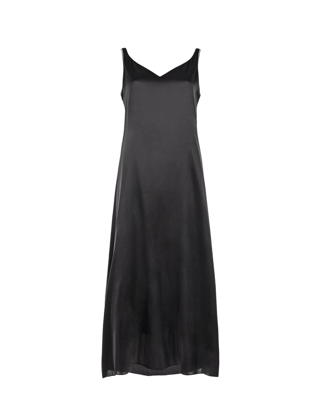 Черное платье-комбинация из шелка Panicale фото
