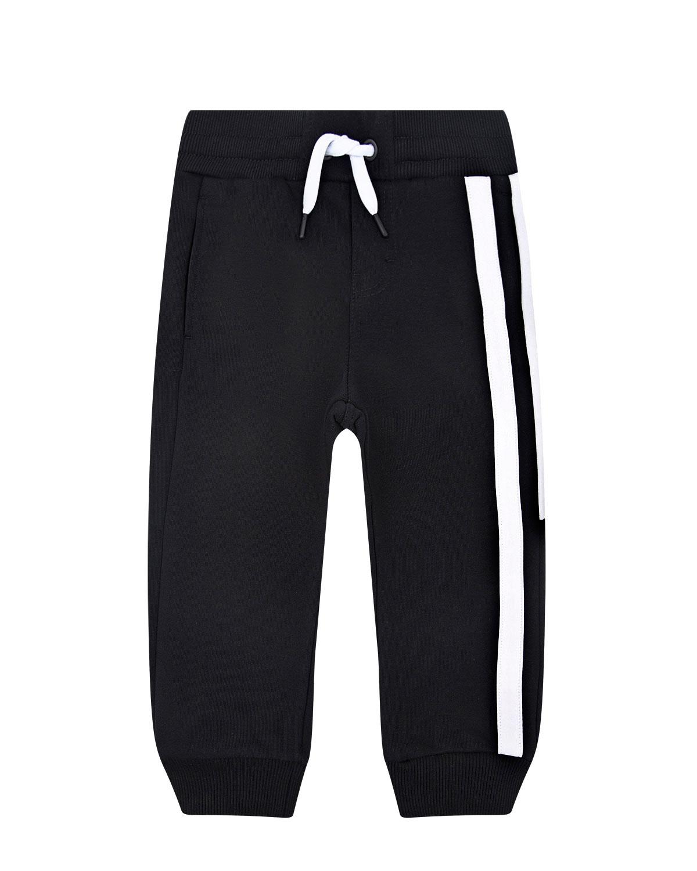 Купить Брюки спортивные с логотипом на штанине Givenchy детские, Черный, 100%хлопок, 98%хлопок+2%эластан, 86%хлопок+14%полиэстер