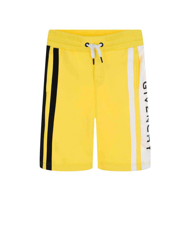 Желтые бермуды с отделкой полосками Givenchy детские фото