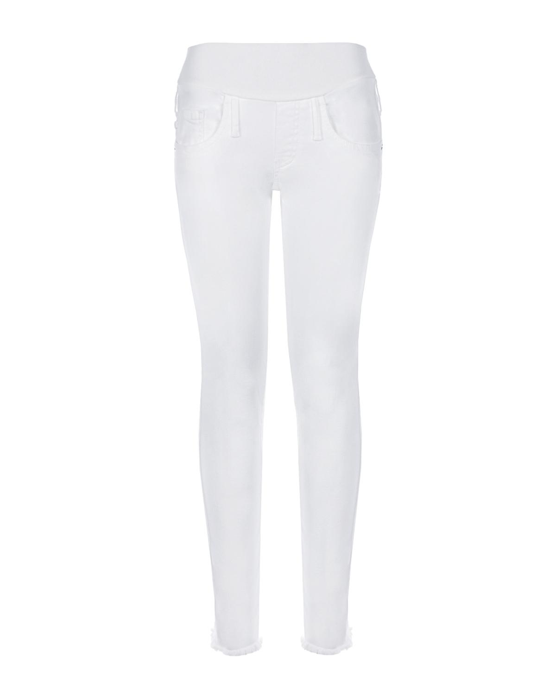 Белые джинсы для беременных с необработанным низом Pietro Brunelli фото