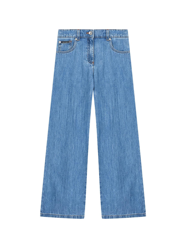 Купить Джинсовые брюки клеш Dolce&Gabbana детские, Голубой, 100%хлопок, 100%натур.кожа