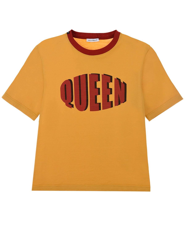 """Футболка с принтом """"Queen"""" Dolce&Gabbana детская фото"""