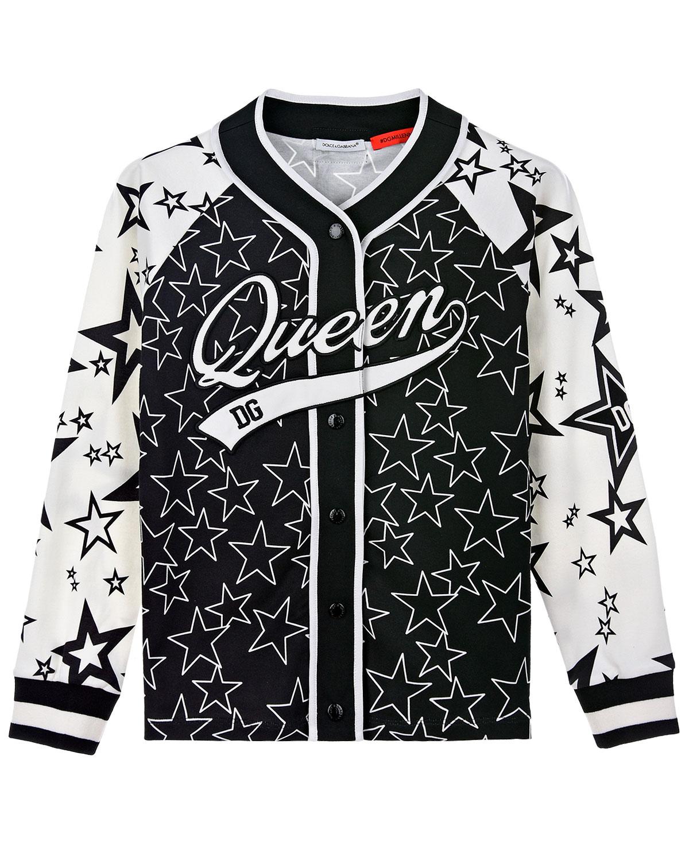 Купить Трикотажная куртка с принтом Звезды Dolce&Gabbana детская, Мультиколор, 100%хлопок, 96%хлопок+4%эластан, 65%полиэстер+20%полиуретан+10%вискоза+5%эластан, 60%вискоза+40%хлопок