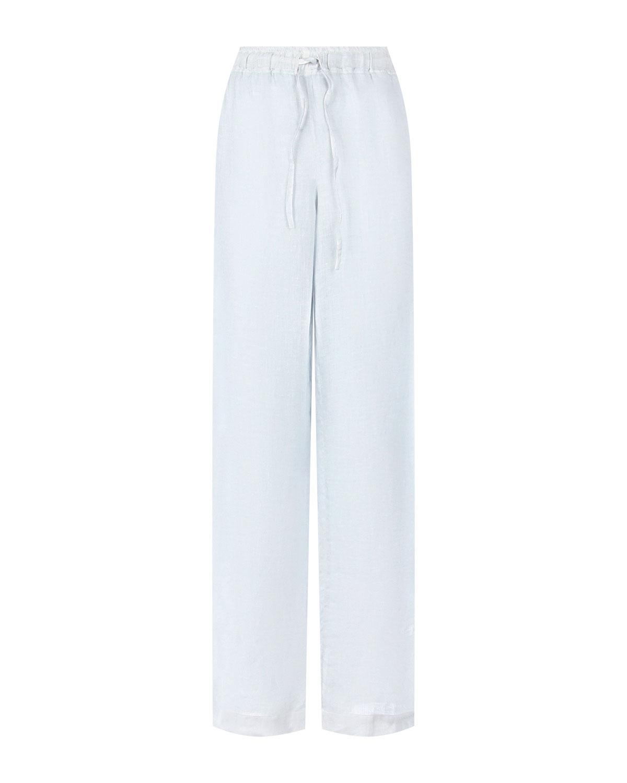 Широкие брюки на завязках 120% Lino фото