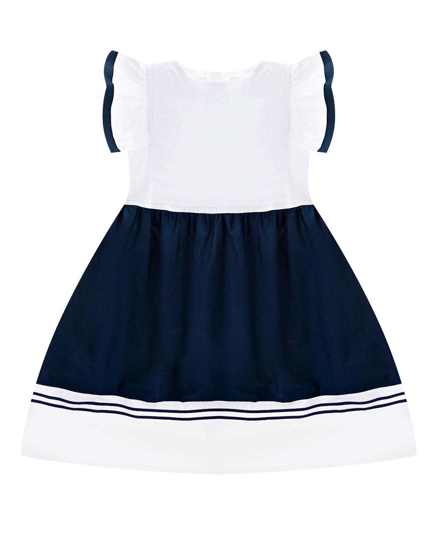 Платье с рукавами-воланами в комплекте с шортикам Aletta детское фото