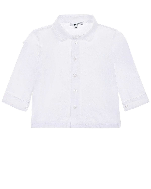 Однотонная рубашка прямого силуэта Aletta детская фото
