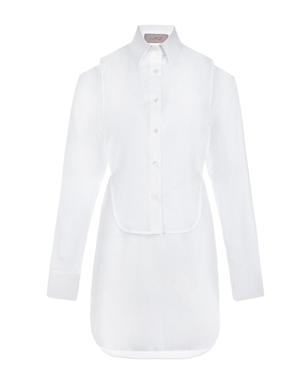 Белая рубашка с имитацией манишки MRZ фото