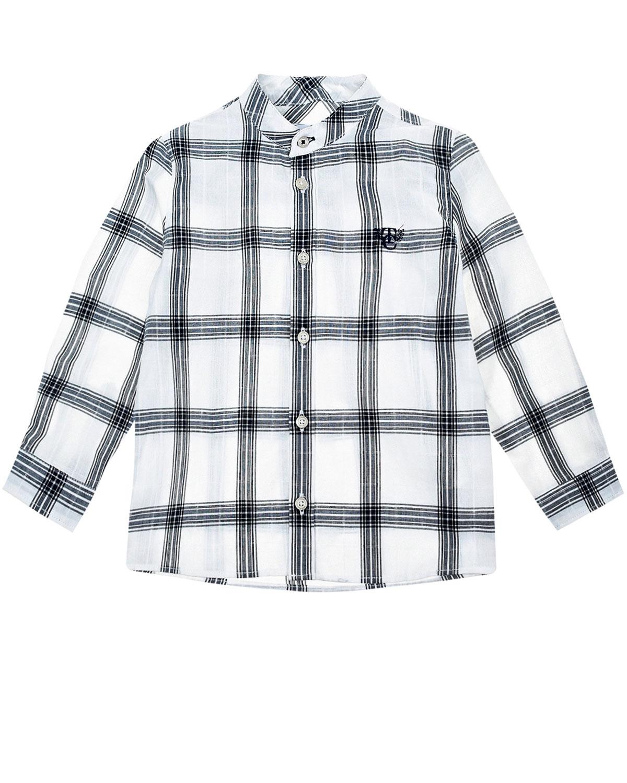 Купить Рубашка с узором в клетку Tartine et Chocolat детская, Мультиколор, 100%хлопок