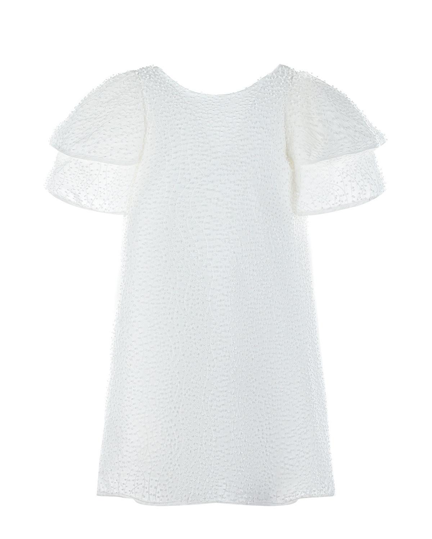 Купить Платье с объемной отделкой в горошек Tartine et Chocolat детское, Белый, 80%хлопок+20%полиэстер, 100%хлопок