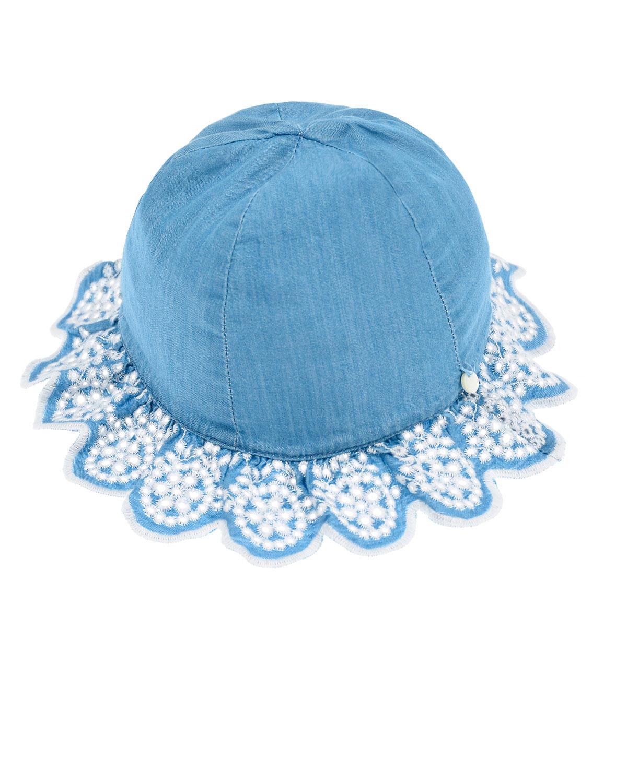 Купить Джинсовая панама с вышивкой Tartine et Chocolat детская, Голубой, 100%хлопок