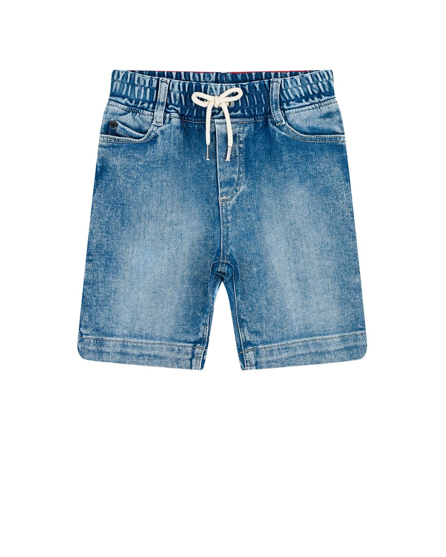 Купить Шорты из денима с контрастным карманом Little Marc Jacobs детские, Голубой, 99%хлопок+1%эластан
